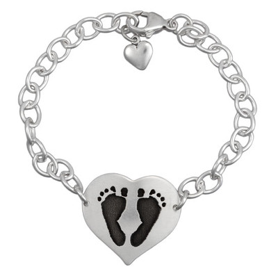 Your child's footprints on a bracelet