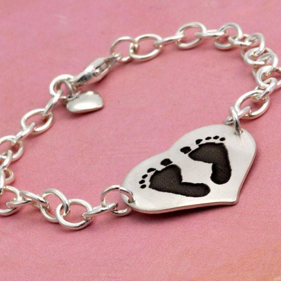 Custom hand prints bracelet