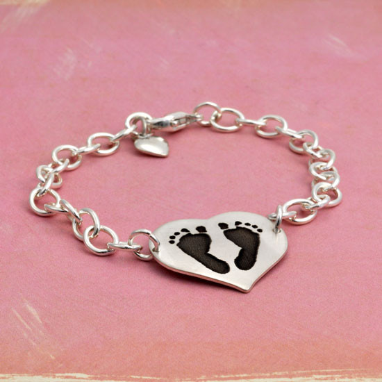 Your baby's footprints on a bracelet
