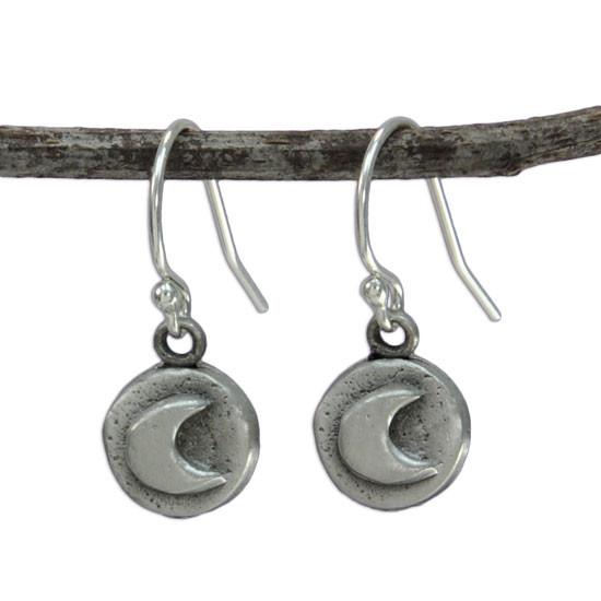 Moon earrings front view