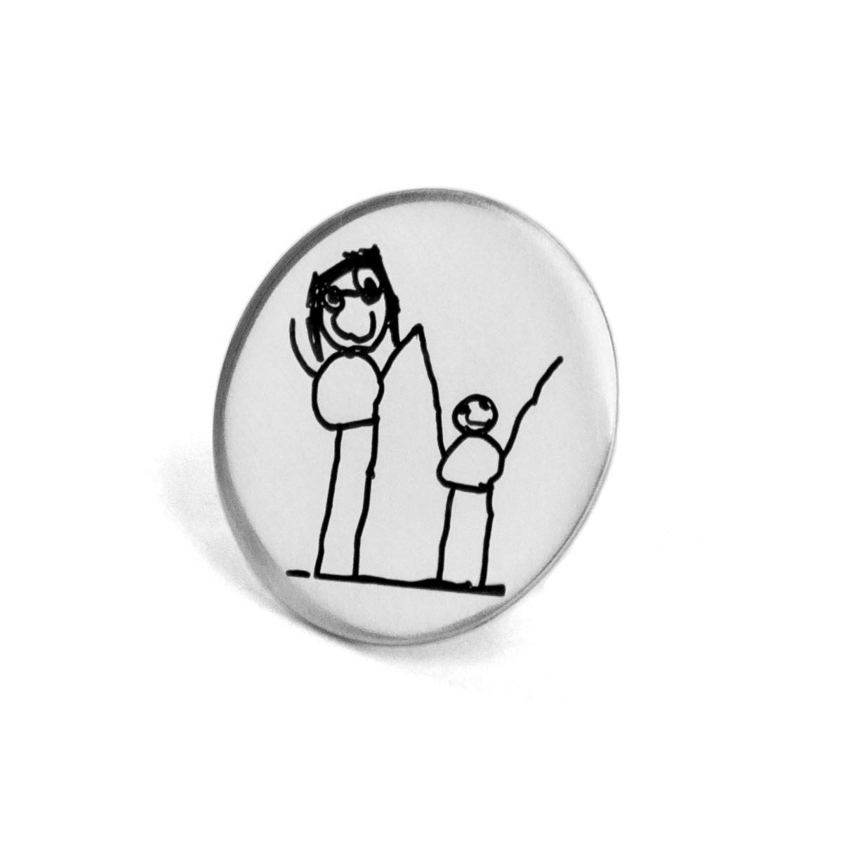 Custom golf ball marker with child's artwork