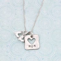 Mom and child necklace