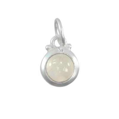 Moonstone with sterling silver