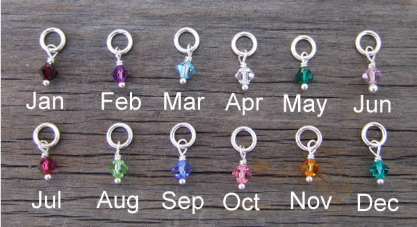 Birthstones for handstamped necklaces