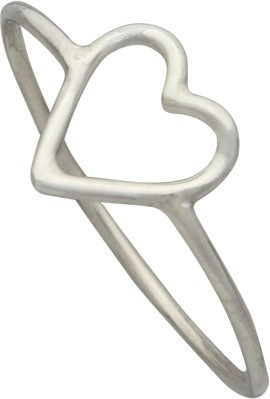 Front view of heart ring