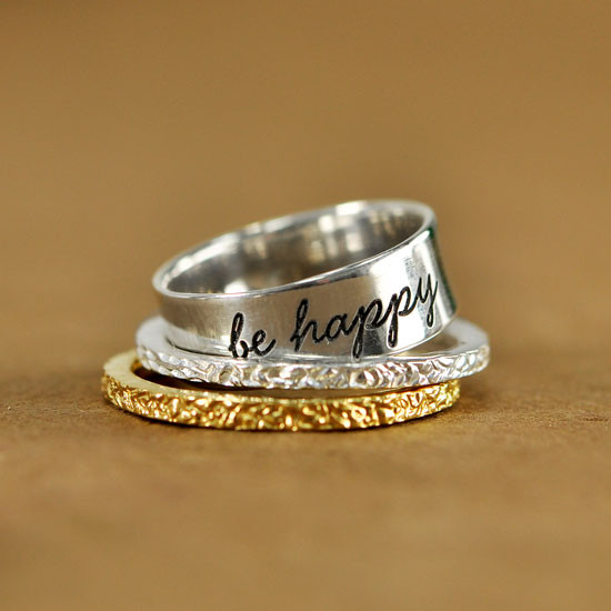 stacked with our wide band ring