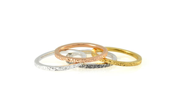Mixed metals stacking rings