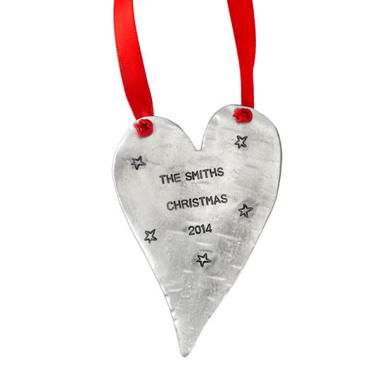 Hand stamped personalized ornament