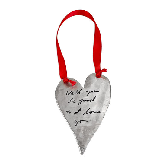 Your handwriting on an ornament