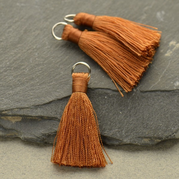 copper tassel for Custom Bookmark personalized with your actual handwriting
