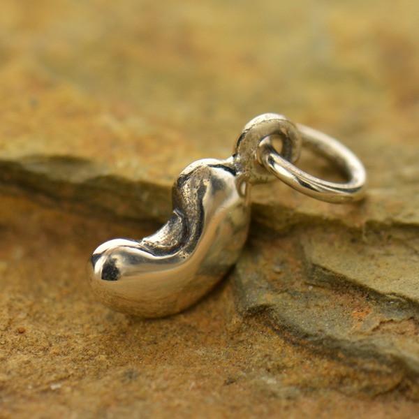 Bean charm in silver
