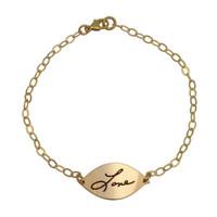 Gold Handwriting Bracelet