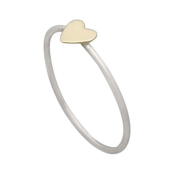 Bronze heart ring