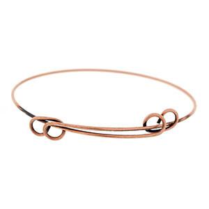 Adjustable copper bracelet