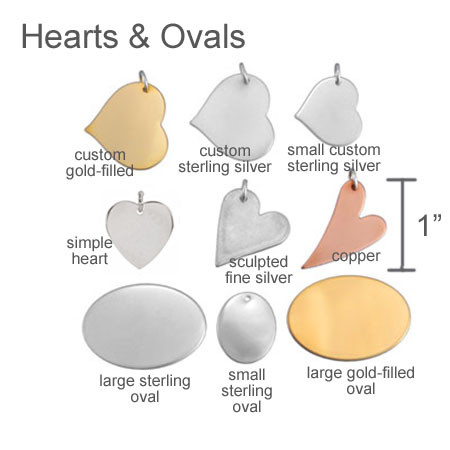 Hearts and oval memorial jewelry