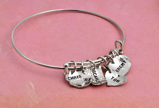 Hand stamped Alex and Ani style Bracelet