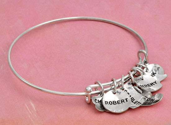 Hand stamped adjustable bracelet
