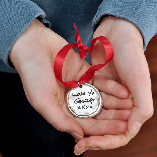 Custom ornament with your handwriting