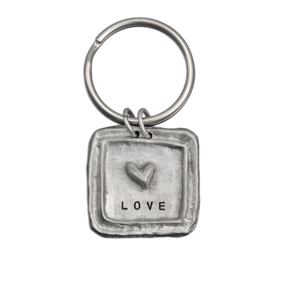 Hand stamped personalized keychain