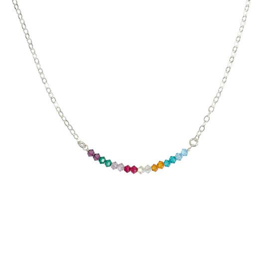Birthstone necklace grandma