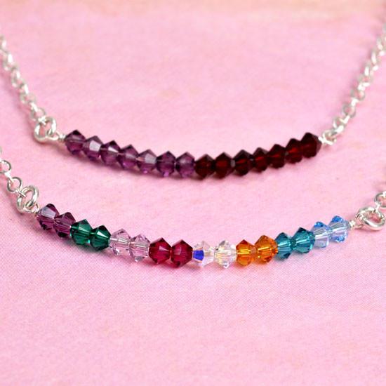 Birthstone mom necklace