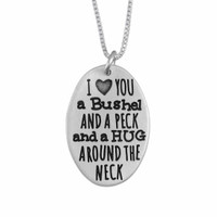 I love you a bushel and a peck charm