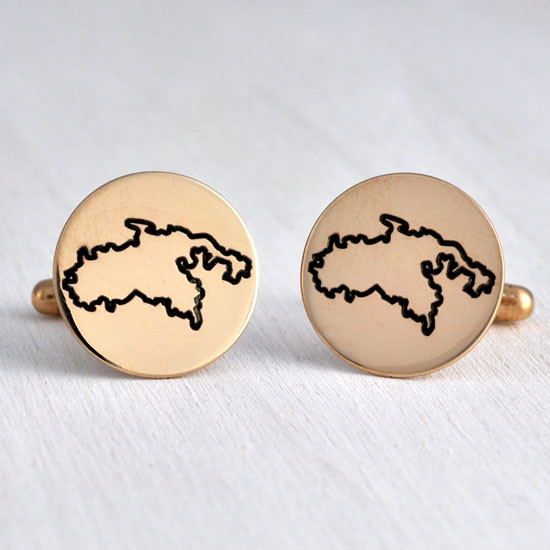 Bronze custom cuff links