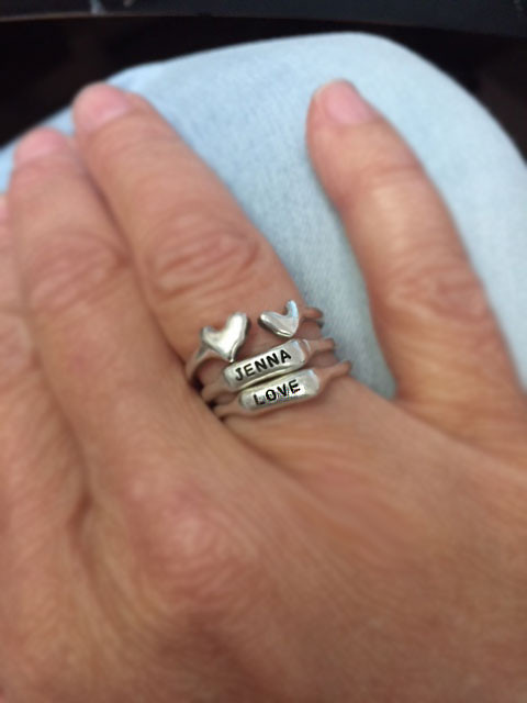 Stacked with our Bar Ring