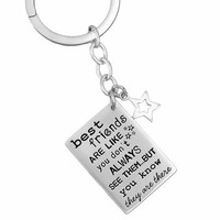 Friends Are Like Stars Key Ring