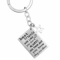 Friends Are Like Stars Key Ring