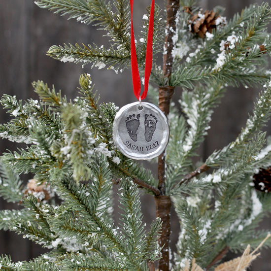 Your baby's footprints on an ornament