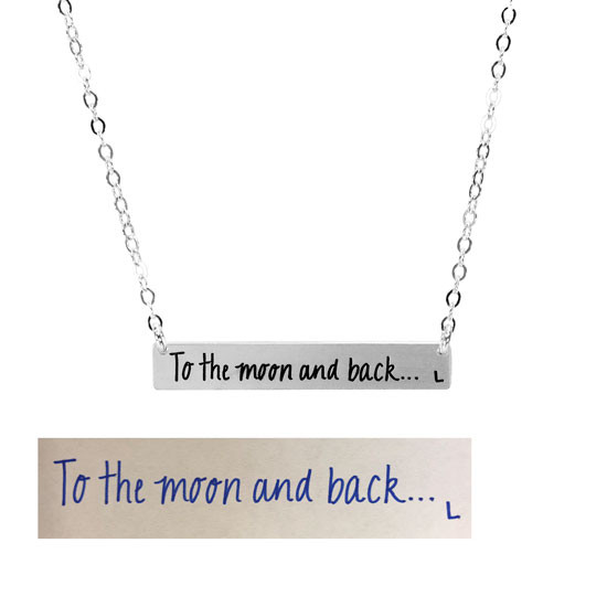 Bar Necklace with Handwriting