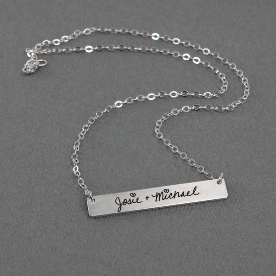 Handwriting wedding gift necklace