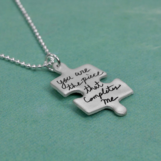 Autism handwriting necklace