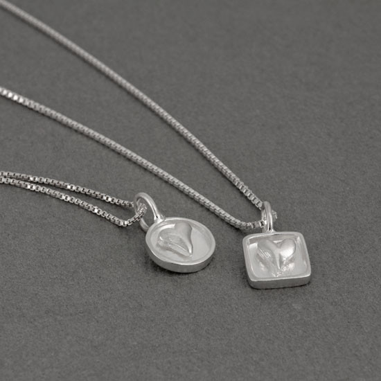 Handmade heart pendant sterling silver