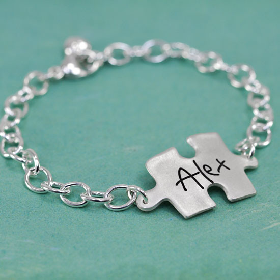 Puzzle handwriting bracelet
