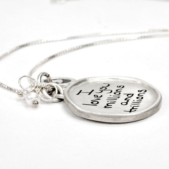 Mother's day handwriting necklace