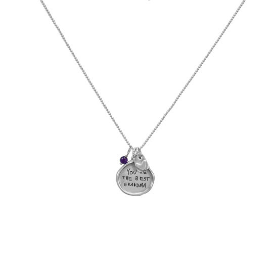 Handwritten note on necklace