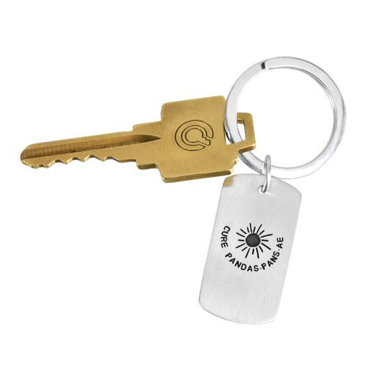 PANDAS PANS AE Awareness Key Ring with key back