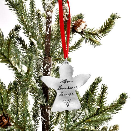 Handwriting Angel Memorial Ornament
