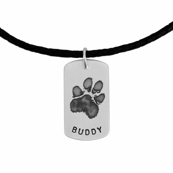 Pawprint necklace for man