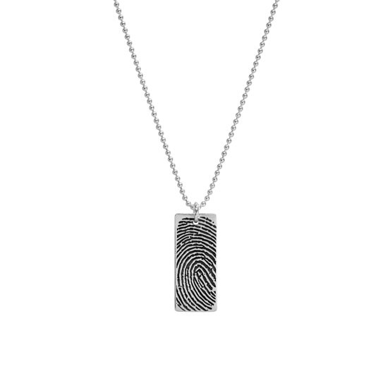 silver fingerprint jewelry