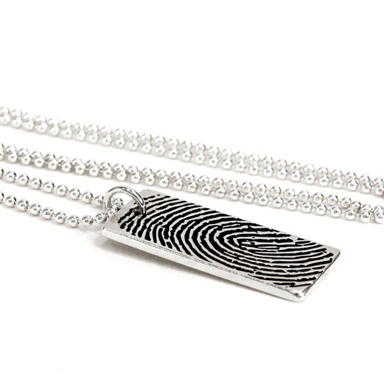 fingerprint jewelry for deceased loved one