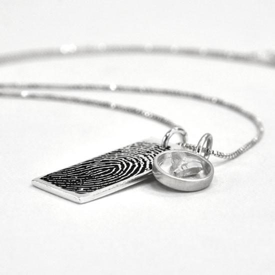 Silver fingerprint jewelry etsy