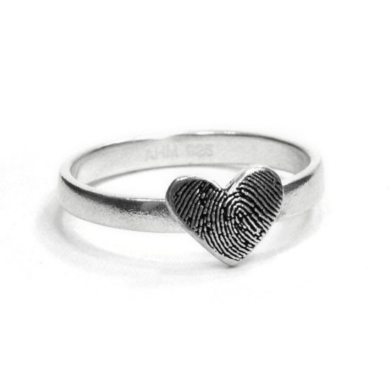 Fingerprint jewelry ring