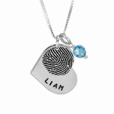 Heart Fingerprint Necklace