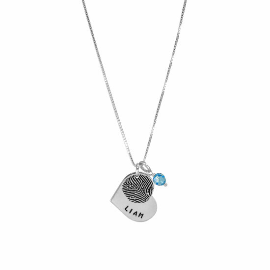 Mommy's fingerprint necklace
