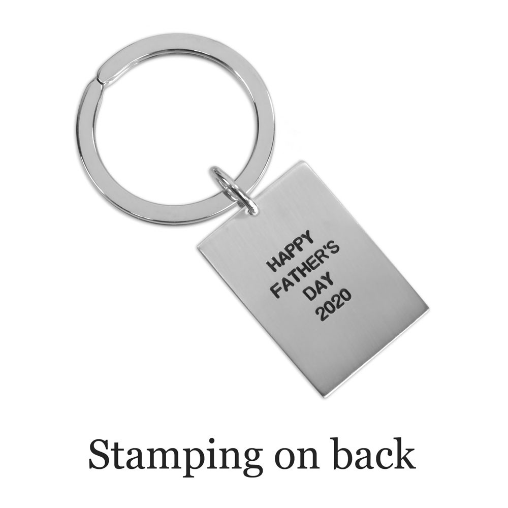 Personalized Silver key chain with your actual handwriting showing optional stamped message on the back