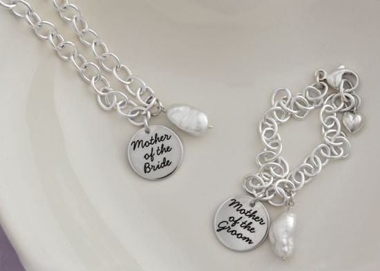 Mother of the bride bracelets with pearl