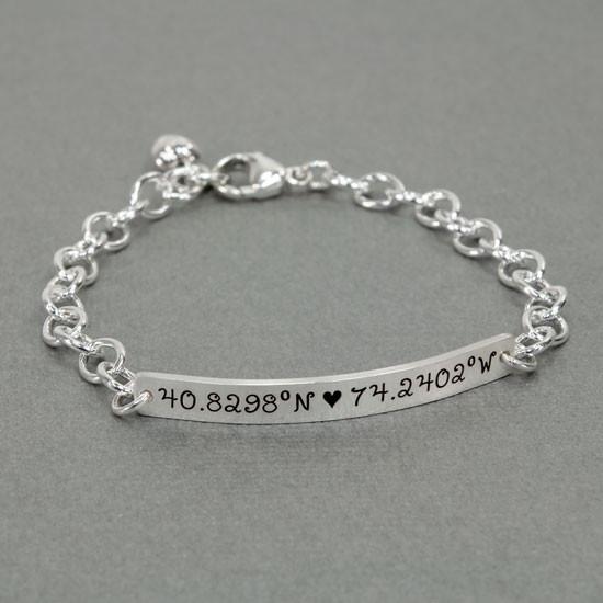 Longitude Latitude bracelet